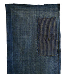"A Length of Faded Sankuzushi Cotton: ""Basket Woven"" 19th Century Cloth"