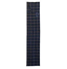 A Handsome Length of 19th Century Handwoven Plaid: Patched