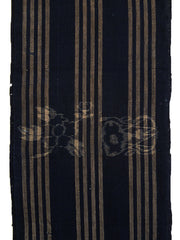 A Length of Egasuri Cotton: Stripes, Flowers, Drums