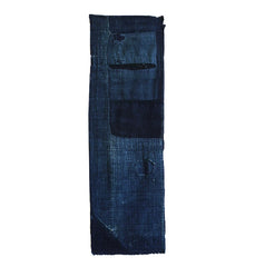 A Wonderfully Mended Indigo Dyed Boro Length: Patches