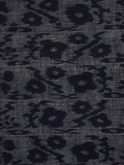 A Beautiful Somber Toned Weft Based Cotton Kasuri Piece: Flowers