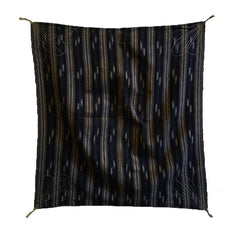 A Sashiko Stitched Furoshiki: Kasuri Cotton Cloth