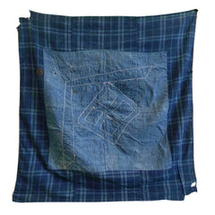 A Fantastic Boro Furoshiki: Sashiko Stitched and Hand Loomed Cotton