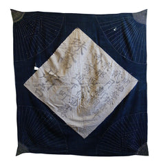 A Large Sashiko Furoshiki from Kyoto: Dated  Meiji 31 or 1899
