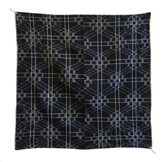 A Beautiful Small Kasuri Furoshiki: Sashiko Stitched Corners