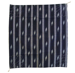 A Kasuri and Sashiko Stitched Furoshiki: Hand Loomed Cotton