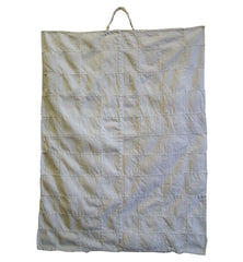 An Unusual Sashiko Stitched Textile: Cotton Square with a Handle