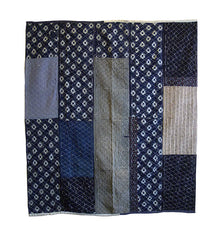 A Large, Very Sashiko Stitched Cotton Kotatsugake: Piece-Constructed Hearth Cover