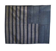 A Wonderfully Sashiko Stitched Coverlet: Piece Constructed
