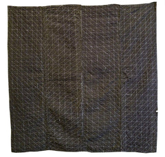 A Marvelous and Large Heavily Sashiko Stitched Kotatsu Cover: Four Panels