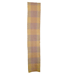 A Length of Very Sashiko Stitched, Layered Cotton: Red and Yellow Plaid