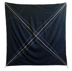 A Very Large Sashiko Stitched Furoshiki: Stunningly Graphic
