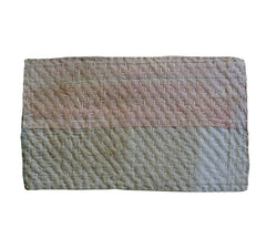 A Coral Pink and White Zokin: Sashiko Stitched