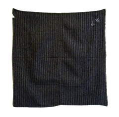 A Homespun Cotton Furoshiki: Sashiko Stitched Name and Thread Flavor
