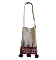 A Colorfully Embroidered Indian Folk Art Bag: Charan Caste of Gujarat