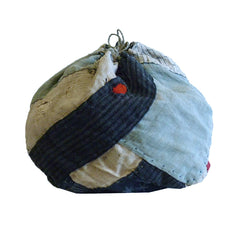 A Beautifully Pieced Komebukuro: Round Shaped Rice Bag