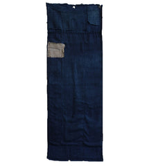 A Short Patched Boro Length: Hand Woven Natural Indigo Dyed Cotton