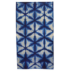 A Hand Towel of Sekka Shibori: Contemporary Cotton and Stripes