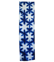 A Length of Sekka Itajime Shibori Cotton: Snow Flowers