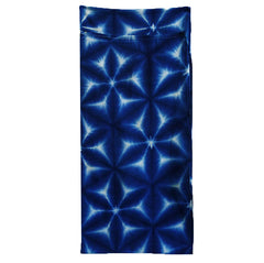A Deep Blue Itajime Dyed Diaper: Snow Flower Pattern