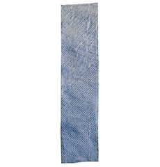 "A Double Arashi Cotton Panel: Indigo Dyed ""Angel Wings"""