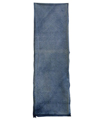 A Length of Indigo Dyed Cotton Shibori: Arashi