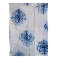 A Shibori Dyed Mat: Finished Edges