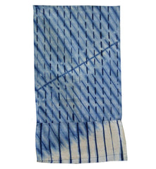 A Folded Shibori Fragment: Pleats in Two Directions