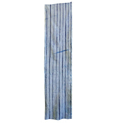 A Length of Indigo Dyed Shibori: Pleated Lines