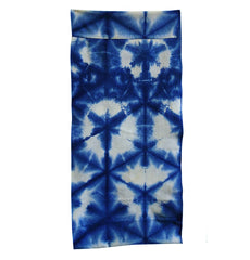 A Clamp Dyed Shibori Diaper: Bold Pattern