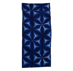A Clamp Dyed Shibori Diaper: Deep Blue Color