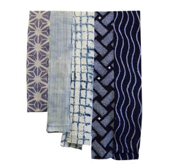 A Selection of Five Shibori Pieces: Narrow Lengths