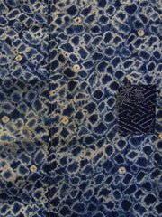 A Large Miura Shibori Cotton Textile: Machine Stitched