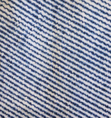 A Length of Diagonally Striped Chidori Shibori: Stitched Parallel Lines