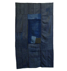 A Beautifully Arranged Boro Shikimono: Indigo Dyed Cotton Sleeping Mat