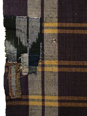 A Length of Purple and Yellow Plaid Cloth: Gromwell Root Dye