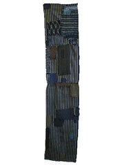 A Very Patched Boro Panel: Striped Cotton