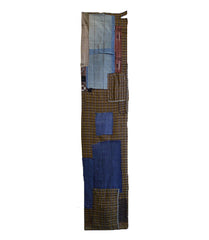 A Colorful Patched Boro Length: Obi Shin Fragment