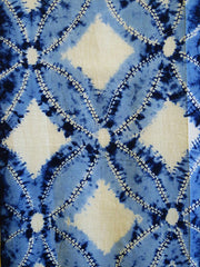 A Length of Cotton Shibori: Large Scale Shippo Tsunagi