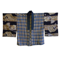 A Flannel and Wool Han Juban: Taisho/Showa