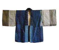 A Silk and Cotton Boro Han Juban: Hemp Stitching