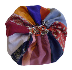 A Silk Komebukuro: Piece-Constructed Bag