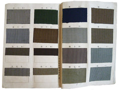 A 19th Century Book of Silk Stripe Samples: Hakama Cloth from Niigata