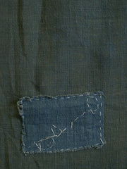 A Length of Green Colored Cotton Kaya: One Patch