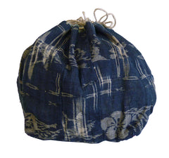 A Beautiful Hemp Komebukuro: Indigo Dyed Omi Jofu