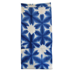 A Sekka Shibori Diaper: Snow Flower in Indigo