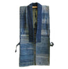 A Beautifully Worn Indigo Dyed Sakiori Sodenashi: Rag Woven Work Vest