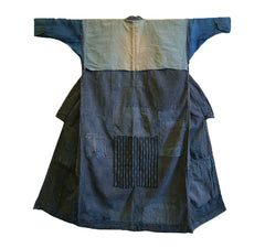 A Boro Kimono or Noragi: Narrow Sleeves, Many Patches