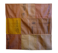 A Square Furoshiki Pieced from Kurume Kasuri Printed Labels: Beautiful Imprint