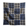 A Pieced Furoshiki of Two Plaids: Machine Stitched